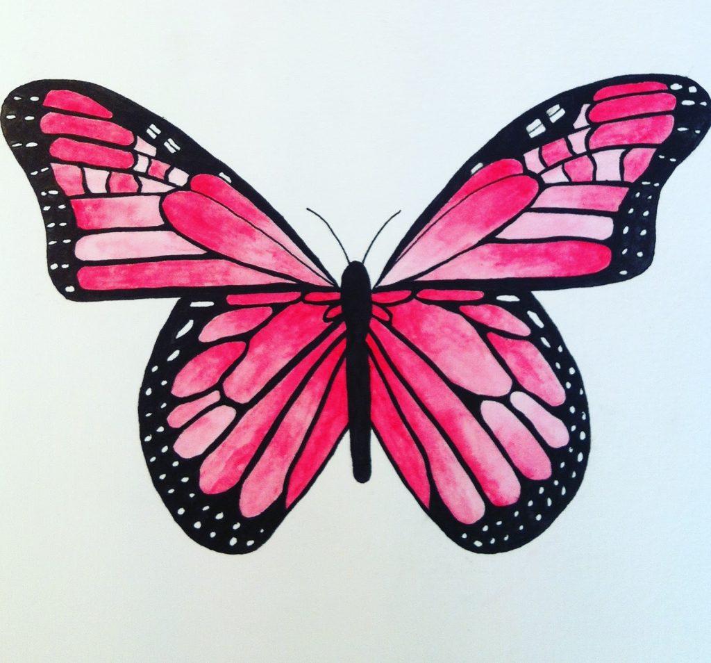 Fjäril i akvarell
